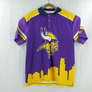 NFL Team Apparel XL Mens Polo Logo Minnesota Vikin